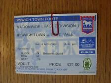 08/04/2000 Ticket: Ipswich Town v Port Vale