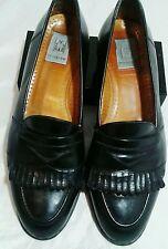 MAGNANNI Men's Loafers Dress Shoes 10M Black  leather kiltie