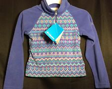NWT Toddler Girls COLUMBIA Fleece XXS 2T Glacial Half Zip Top Shirt Purple $32