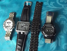 lot of 4 digital watches,Ohsen,Lava Samurai,Eric Chevillard and Solo