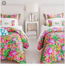 NEW Lilly Pulitzer Lulu Print Twin Duvet Cover Only!! Garnet Hill!!