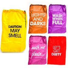 """Laundry Bag 35""""X24"""" Heavy Duty Nylon Sturdy Large Drawstring Wash Washing Travel"""
