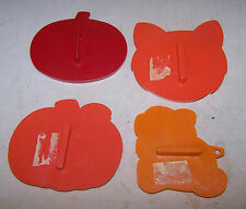 4 HALLOWEEN Cookie Cutters - 3 are Hallmark - Pumpkin Jack O Lantern Cat