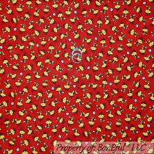 BonEful Fabric FQ Cotton Quilt Peanuts Red Yellow B&W Woodstock Smores Fire Camp