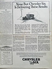 1925 Chrysler Six Car Delivering These Results Original Ad