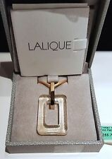 ~ New in Box  Auth LALIQUE 24K Gold Foil CRYSTAL PENDANT NECKLACE JEWELRY Paris