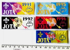 * BADGE SALE * 5 x Scout Jamboree On The Air Badges; JOTA 1991, 92. 95, 96 & 97