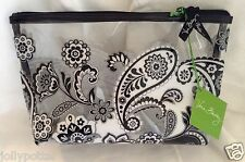 VERA BRADLEY Clearly Colorful Cosmetic MIDNIGHT PAISLEY Large Beach Pool Travel