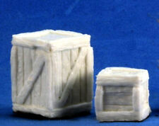 1 x GRANDE ET PETITE CAISSE - BONES REAPER miniature jdr rpg box crates 77248