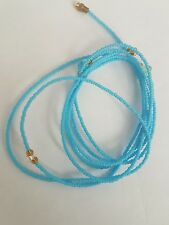 "Two Sexy African Single Waist Beads, Blue 37""inches long New FREE P&P"