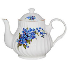 Crown Trent Fine English Bone China 4 Cup Teapot Tea Pot FORGET ME NOT