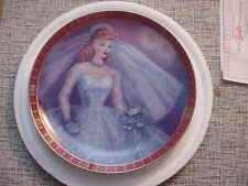 """1959 Barbie """"Bride To Be"""" Collector Plate, The Danbury Mint"""