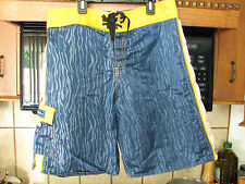 Quiksilver surf board shorts 1980s 1990s Nylon Surfing Wild  rock star style
