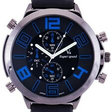 TOP Oversize Army Dial Design Luxury Fashion Sport Watch Men relojes deportivos