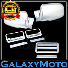 88-98 CHEVY C+K 1500+2500+3500 Triple Chrome Mirror+2 Door Handle+Tailgate Cover