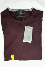 M&S Mens Lambswool Crew Neck Jumper Size L New with tags Wine colour