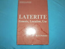 Vintage Book Laterite Genesis, Location, Use by Persons 1970 Signed