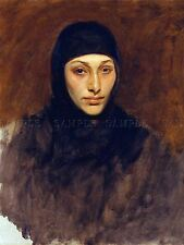 PAINTING PORTRAIT STUDY SARGENT EGYPTIAN WOMAN LARGE REPRO POSTER PRINT PAM2139