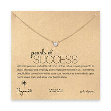 """Dogeared Gold Dipped Pearls Of Success Gift Boxed 16"""" Necklace"""
