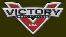 "VICTORY MOTORCYCLES USA EMBROIDERED PATCH ~7-3/4"" x 4-1/4"" V2 PARCHE AUFNÄHER"
