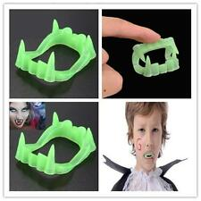 Glow In The Dark Vampire Fangs Kids Dracula Teeth Halloween Party Favor Toy pp