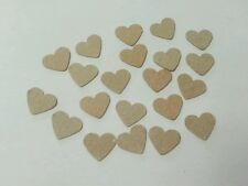 100 kraft heart embellishment decoration DIY wedding invitation card making