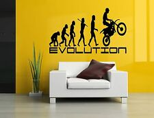 Wall Decor Art Vinyl Sticker Mural Decal Motorcycle Evolution Motocross SA690