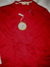 JOS A BANK LIGHT COTTON RIVER DRIVERS STYLE HENLEY SOFT SHIRT-BURGUNDY RED-NWT-M
