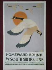 POSTCARD  USA 1926 POSTER HOMEWARD BOUND BY SOUTH SHORE LINE