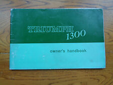 Truimph 1300 Owners Handbook/Manual