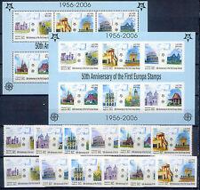 50 Jahre Europamarken, Cept, Bauwerke - Laos - 1973-1978, Bl.194 A/B ** MNH 2005