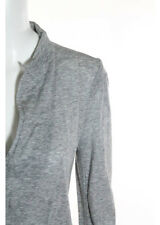 IISLI NEW YORK Gray Cotton Long Sleeve One Button Two Pocket Knit Jacket Sz 8