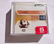 NEW Unopened Pack TDK DVD-R RW 2.4X 4.7GB +R Disks Recordable 120 Minutes DVDs