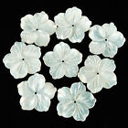 g0020.1 8pcs 16mm mother of pearl MOP shell flower beads