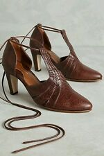 Anthropologie by Luiza Perea Enescu Heels Lace-up Brown CLASSY Size 39 EUR $298
