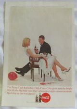 1963 Coca Cola Vintage Print Ad, The Pause That Refreshes