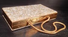 Vintage Lucite Confetti Style Carry All Compact Cigarette Holder Clutch - Nice!