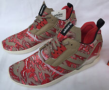 new Adidas ZX 8000 Boost B26365 Khaki Red Camo Marathon Running Shoes Men's 13
