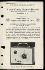 RCA Victor Modulated Oscillator Condenser Tuning Service Info Manual With BONUS!