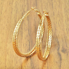Statement Womens jewelry Yellow gold filled big hoop earrings earings