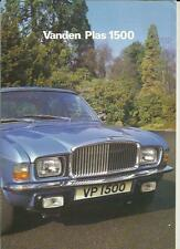 VANDEN PLAS 1500  SALES BROCHURE JANUARY 1979