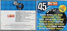DAVID BOWIE LOU REED JANIS JOPLIN CD made in ITALY Musica di Panorama I 45 giri