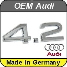 OEM Audi A4 A5 A6 A7 A8 Q5 Q7 4.2 Chrome Rear Badge Emblem