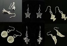 HOT Wholesale Lady 12Pair/lot Charm Fashion Jewelry Silver Mix Stud Earring NEW