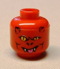 x1 NEW Lego Minifig Head with Devil Pattern Scary Halloween Minifigure Head