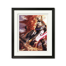 Mobile Suit Gundam Slashing Sword Poster Print