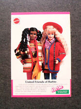 I237-Advertising Pubblicità-1990- BARBIE , UNITED FRIENDS OF BARBIE , MATTEL