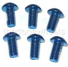 12 (2 Sets) Disc Brake Rotor Bolts Blue Coloured Durable Steel MTB Bicycle Bike