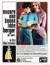 PUBLICITE ADVERTISING 074  1969  BERGER DU NORD   laines