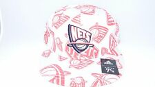 NEW HAT CAP FITTED NBA ADIDAS NEW JERSEY NETS SIZE 7 1/4 GREY RED
